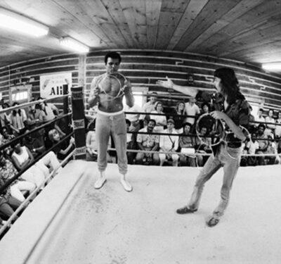 Muhammad Ali, stage magician Doug Henning1974© 1978 Peter Angelo Simon