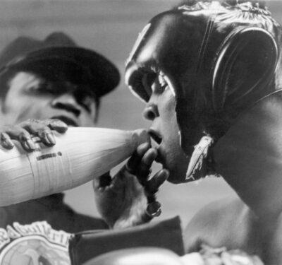 Drew Bundini Brown and Muhammad Ali at Deer Lake training camp in 1978.